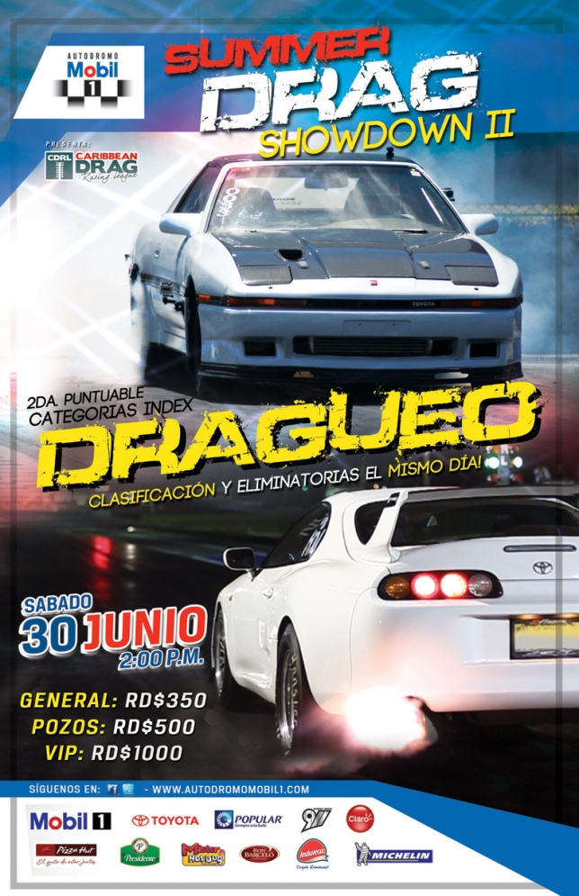 Summer Drag ShowDown 2 (Sabado 30 de junio, Autodromo Mobil 1).