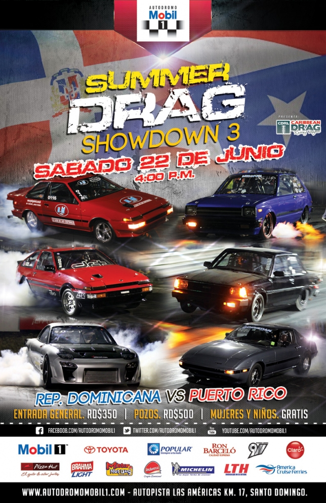 Summer Drag Showdown 3 este sabado 22 de junio del 2013 en el Autodromo Mobil 1