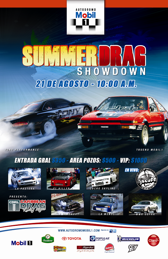 Summer Drag Showdown domingo 21 de agosto en el Autodromo Mobil 1