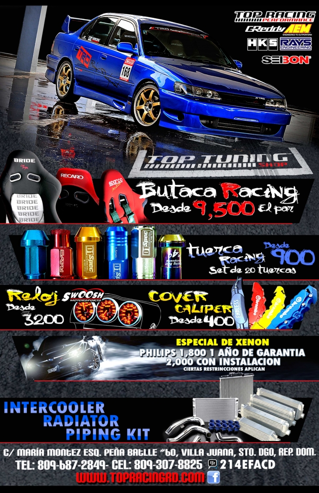 Especiales Top Racing Performance