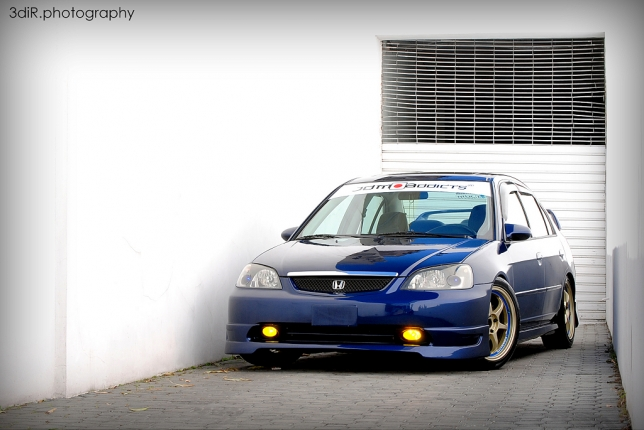 Honda Civic Ex 2001 Jdm Blue Photo Shoot Rep 250 Blica Dominicana Racing Magazine