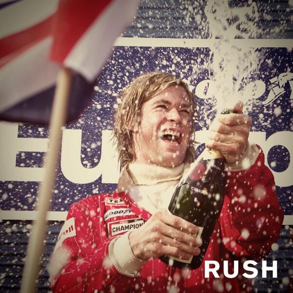 Chris Hemsworth en su papel de James Hunt en la pelicula RUSH