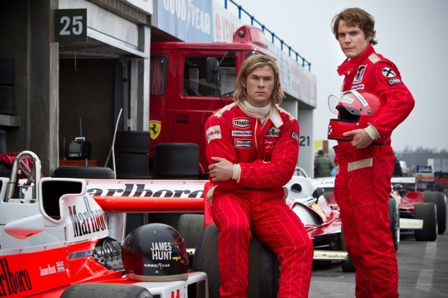 James Hunt y Niki Lauda (RUSH 2013)