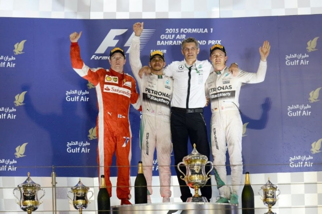 Podio 2015 Formula 1 Gulf Air Bahrain Grand Prix