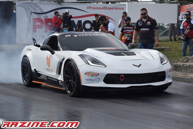 Francsico Sang (Chevrolet Corvette C7 Z06 VARSANG).... 156.93 mph en el Dominican Roll Race by Cleaner Studio 2020